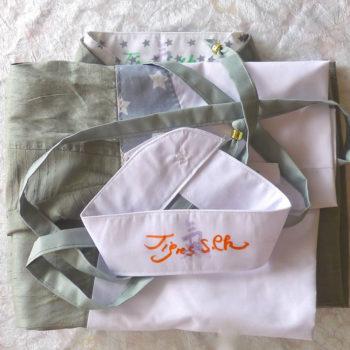 Tai Chi Anzug | hellgraue Dupionseide - mit zusätzlichem Kragen