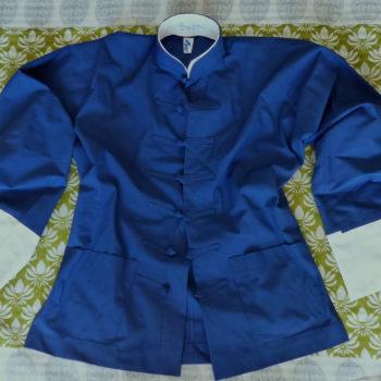 Tai Chi Anzugjacke | blaue Baumwolle