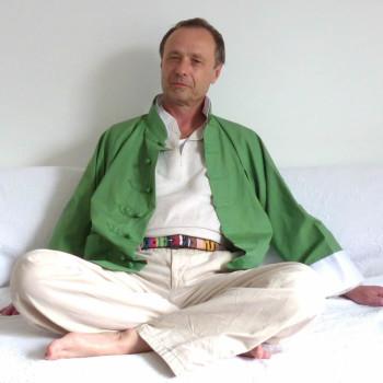 Asiatische Jacke 100 % Baumwolle, Farbe Grün