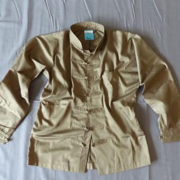 Hemd aus Bio-Baumwolle Satin Farbe Khaki |auch in Türkis, Schwarz, Weiß, Beige