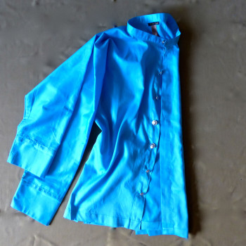 Hemd aus türkisfarbener Bio-Baumwolle | leichtes Sommer-Hemd