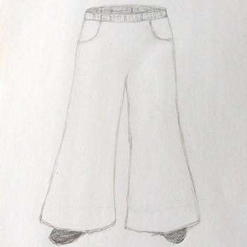 Hose mit Taschen und Gummizug
